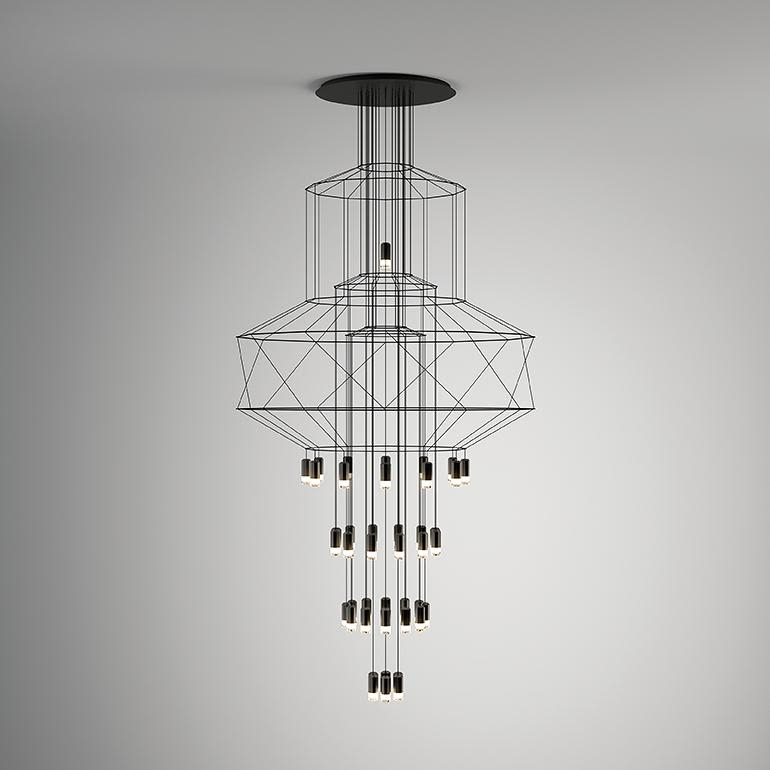 Wireflow Chandelier - 43 Leds by Vibia