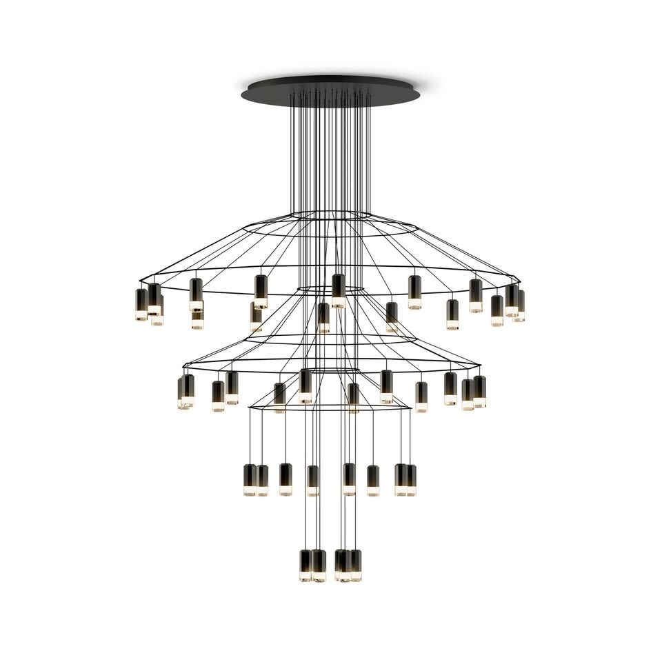 Wireflow Chandelier - 42 Leds by Vibia