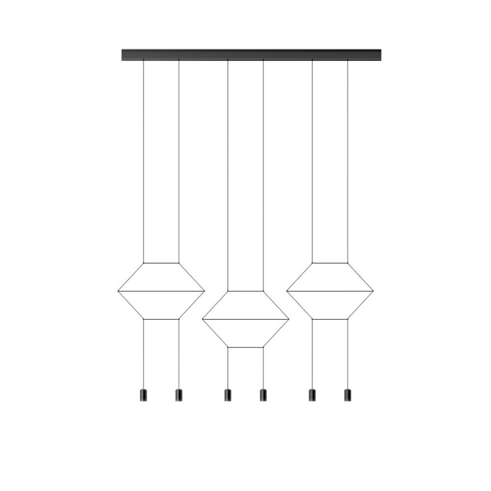 Wireflow Lineal 0325 Pendant Light by Vibia