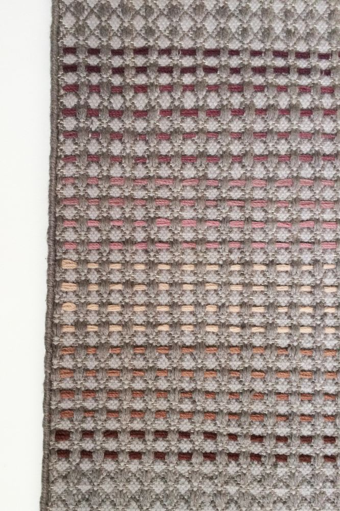 GARBOR - plum & rust hand woven rug by WAFFLE DESIGN