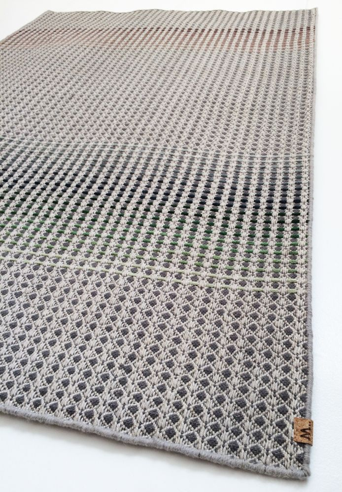 TONK - light grey hand woven rug by WAFFLE DESIGN