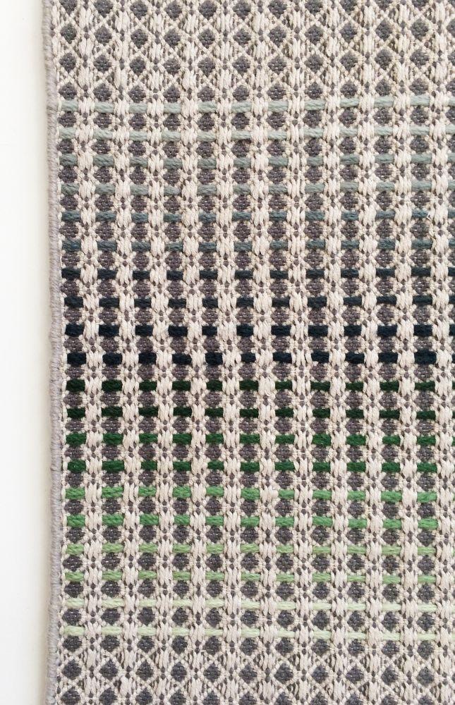 GERU - hand woven light grey runner by WAFFLE DESIGN
