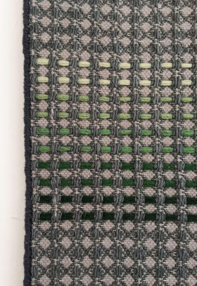 SIBU - hand woven navy runner by WAFFLE DESIGN
