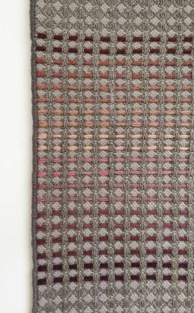 KALAM - hand woven grey runner by WAFFLE DESIGN