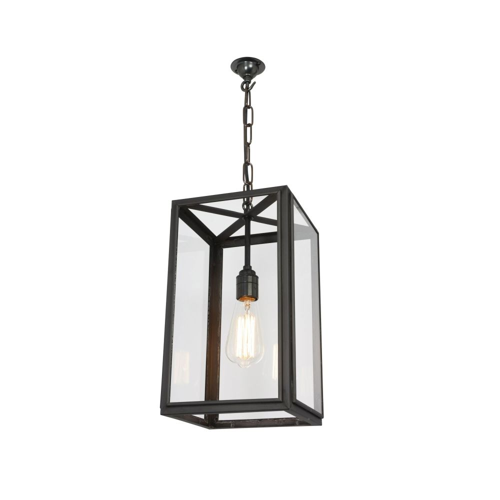 Square pendant light 7639 clear glass small by davey lighting mozeypictures Image collections
