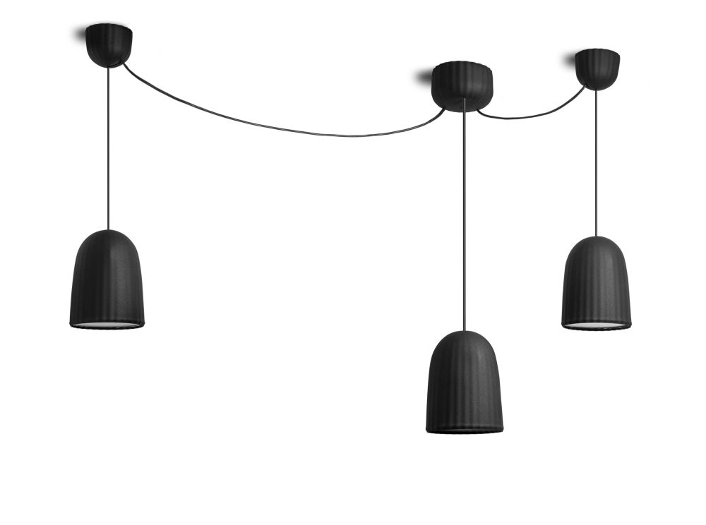 Chains Pendant Single 3 Units Light by Petite Friture