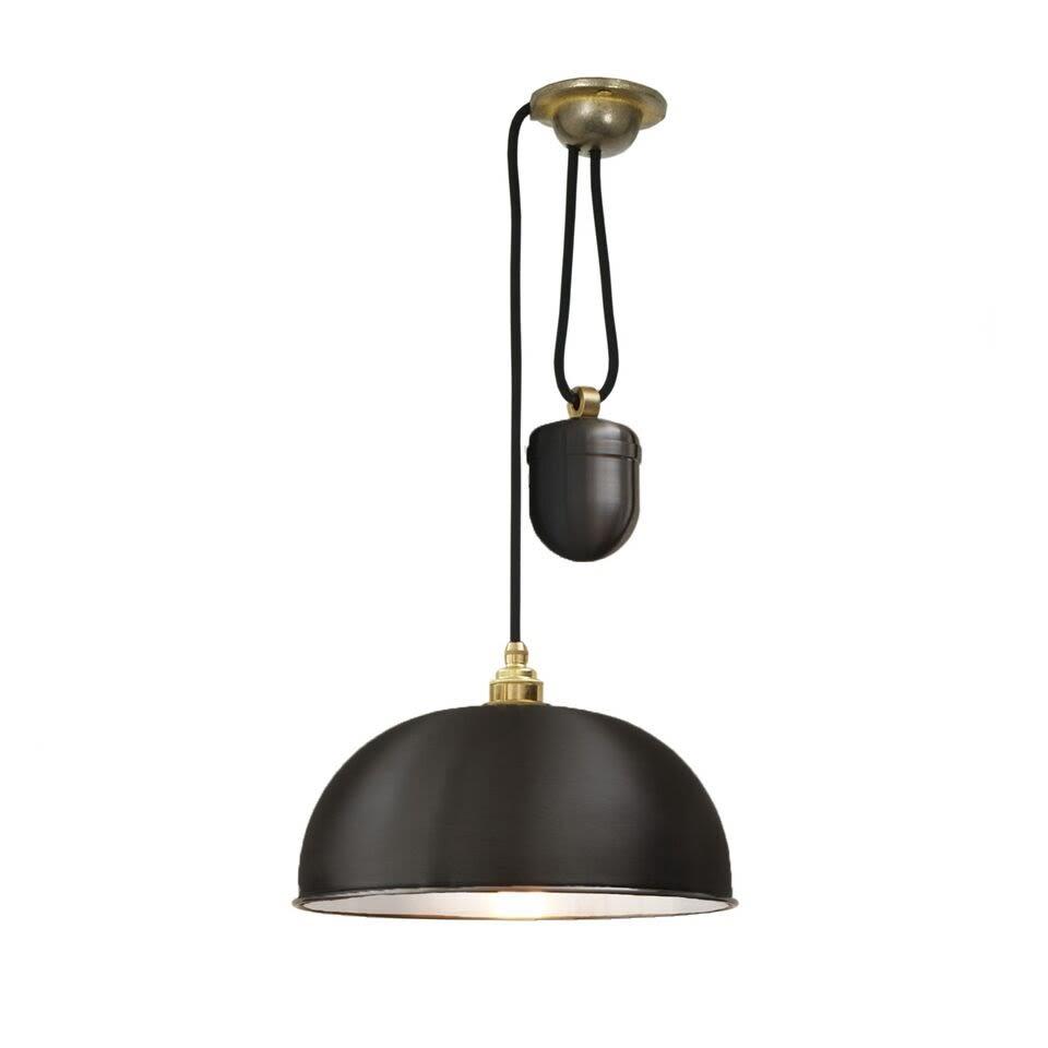 Dome rise fall pendant light 7300 black by davey lighting aloadofball Choice Image