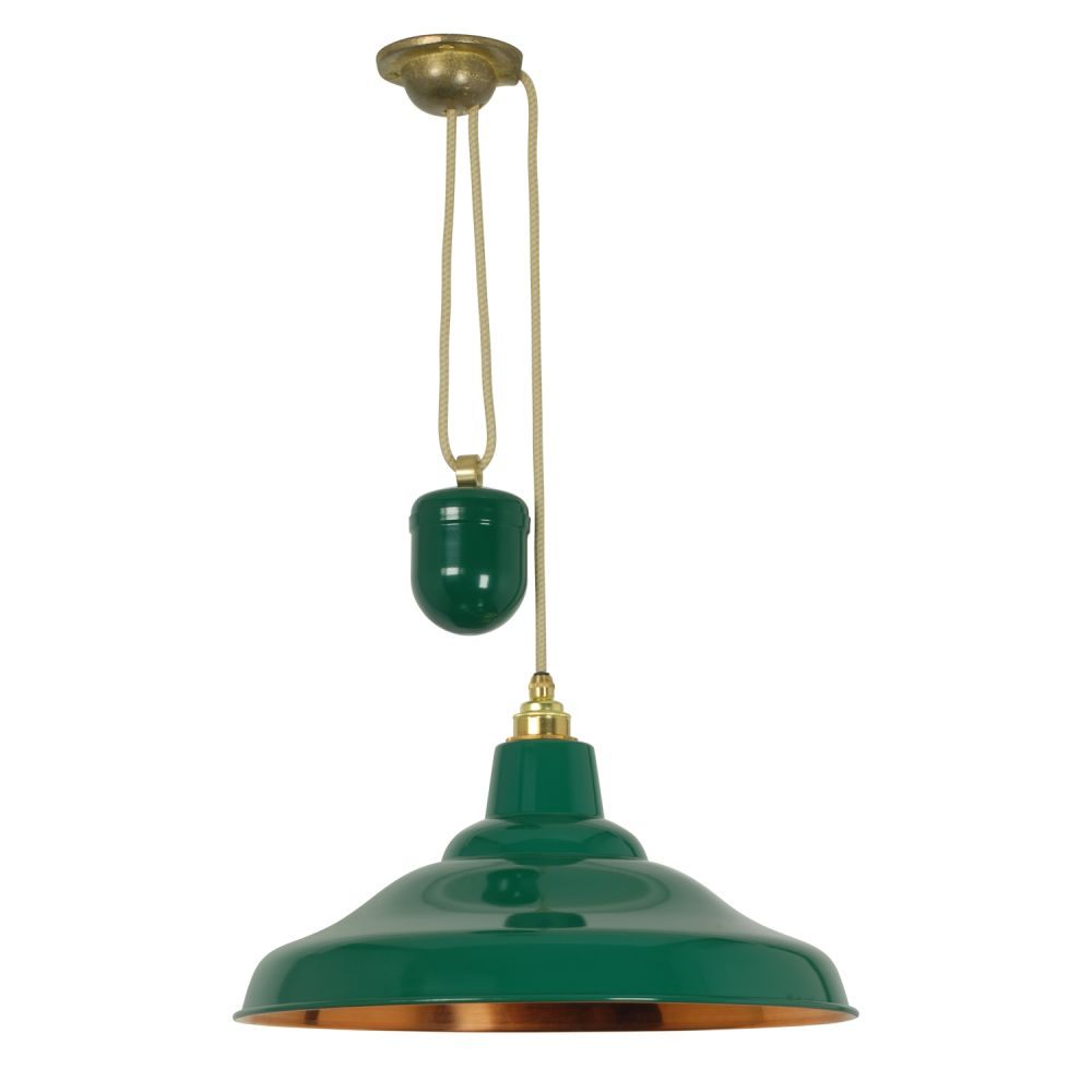 Rise And Fall School Pendant Light 7200 by Davey Lighting
