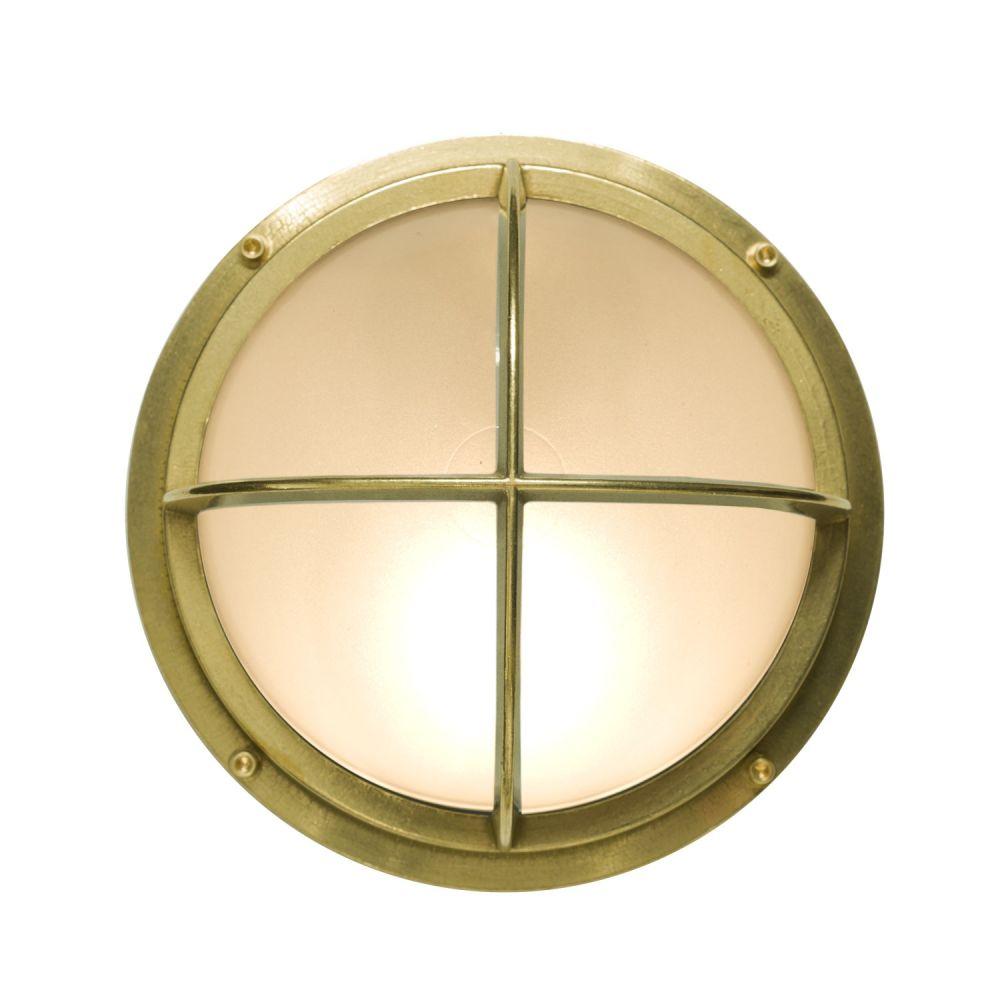 Brass Bulkhead with Cross Guard 7226 by Davey Lighting