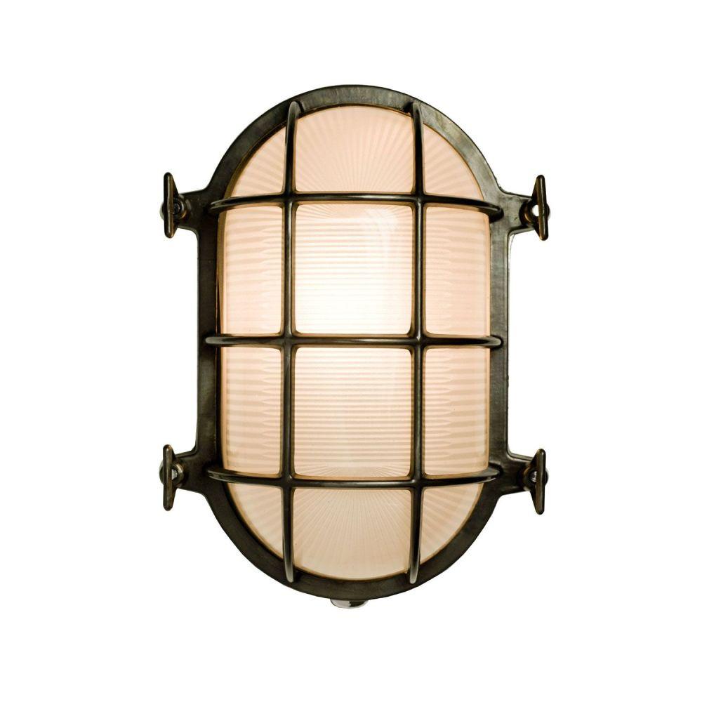 Oval Brass Bulkhead by Davey Lighting