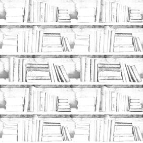 Bookshelf Wallpaper by Mineheart