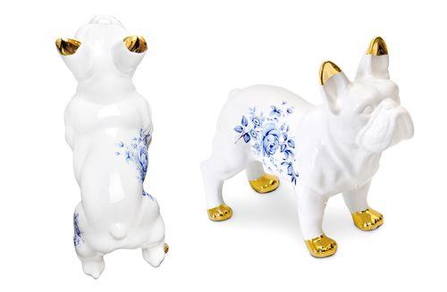 Delft Ceramic Bulldog  by Mineheart
