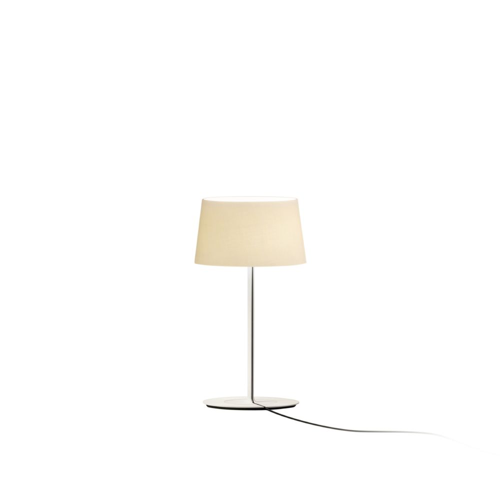 Warm mini table lamp matt red lacquer aluminium by vibia aloadofball Image collections
