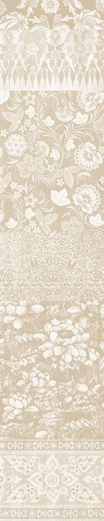 Arts and Crafts Patchwork Wallpaper Beige by Mineheart