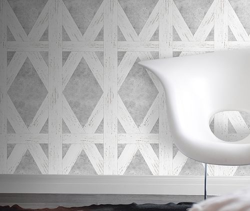 White Tudor Wallpaper  by Mineheart
