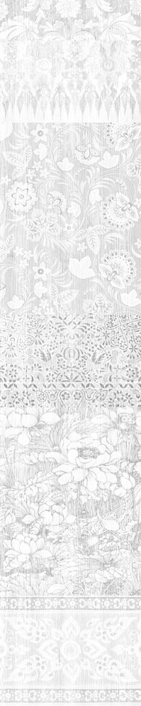 Almost White Arts and Crafts Patchwork Wallpaper  by Mineheart