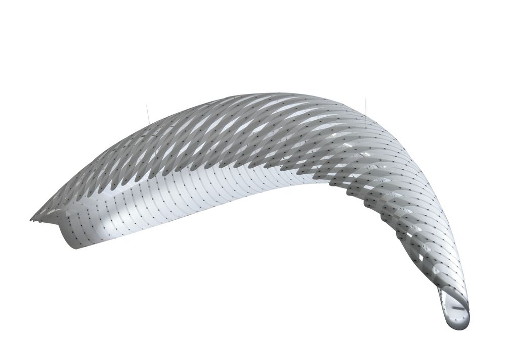 Wing Pendant Light by David Trubridge
