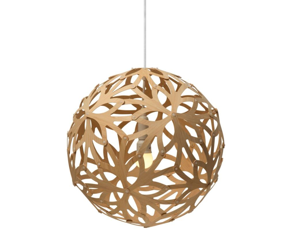 Floral pendant light natural 40cm by david trubridge aloadofball Choice Image