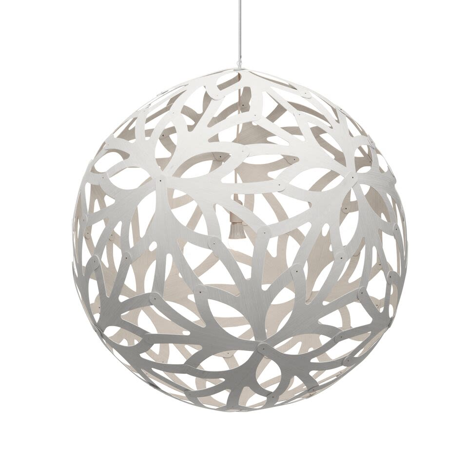 Floral pendant light natural 40cm by david trubridge select this configuration aloadofball Image collections