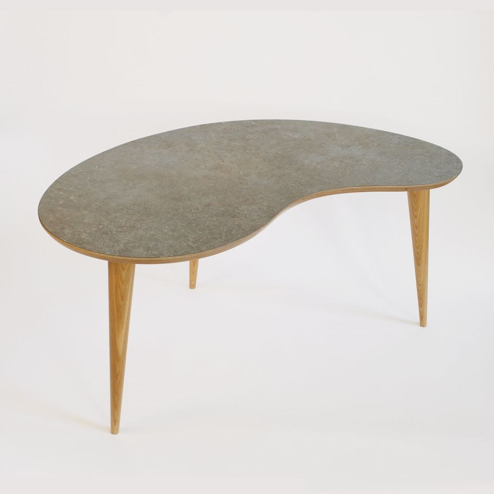 Bean table Scruffed Grey