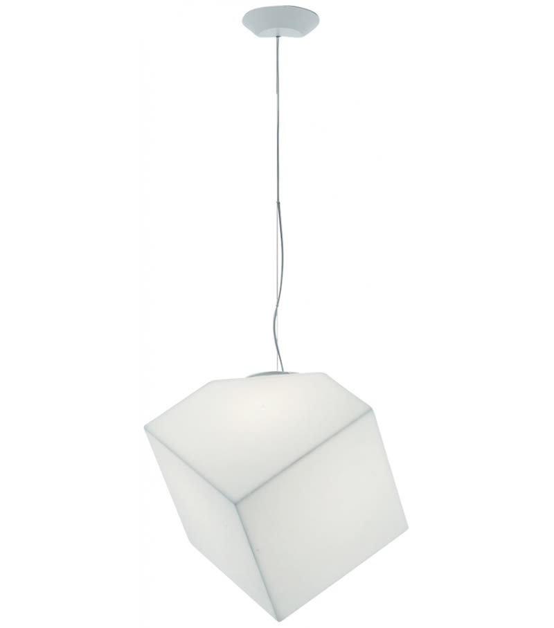 Edge 30 pendant light white by alessandro mendini for artemide mozeypictures Image collections
