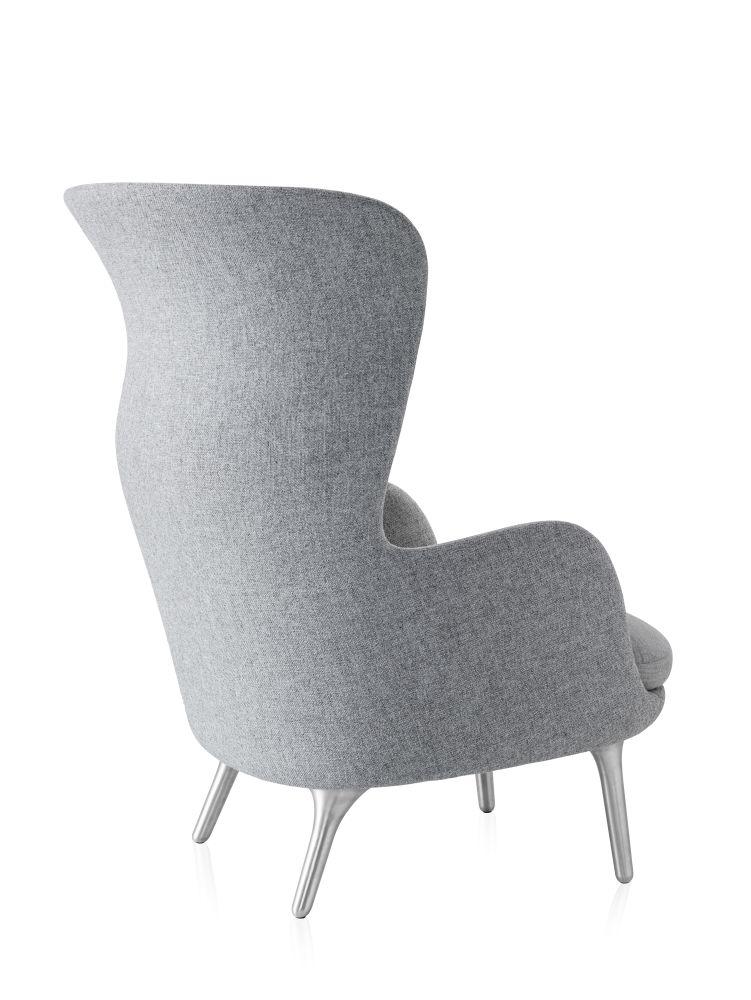 Ro Easy Chair With Aluminium Legs by Republic of Fritz Hansen