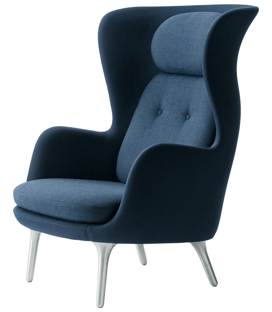 Ro Easy Chair With Aluminium Legs - Designer Selection by Republic of Fritz Hansen