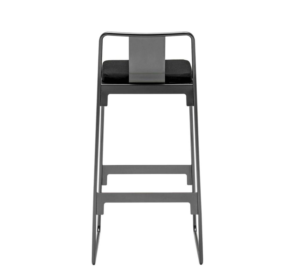MINGX - Outdoor High Stool with Back by Driade