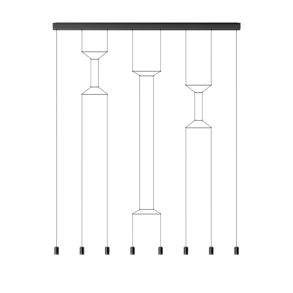 Wireflow Lineal Pendant Light - 8 LEDs by Vibia