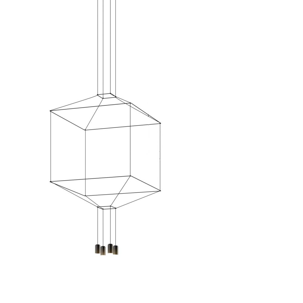 Wireflow Chandelier - 4 LEDs by Vibia
