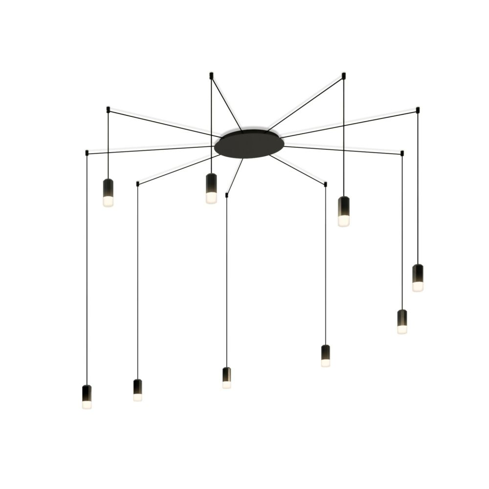 Wireflow Free Form Pendant Light - 9 LEDs by Vibia