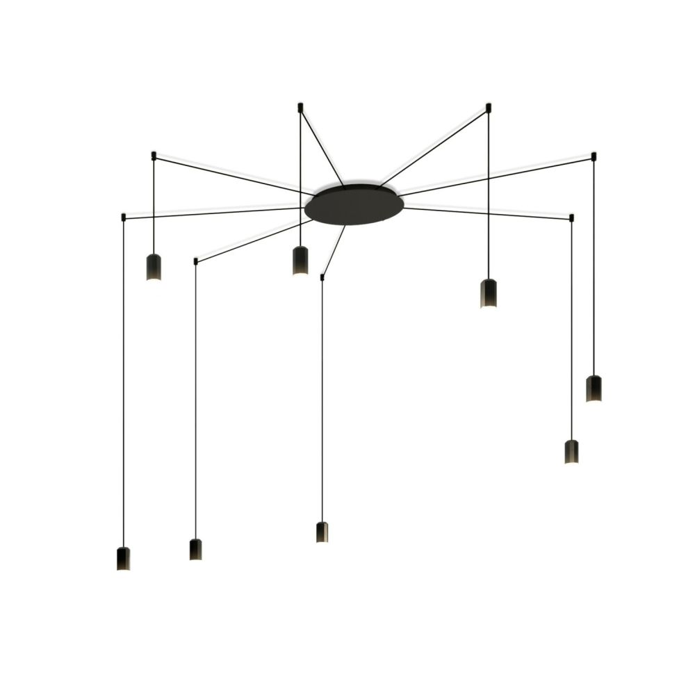 Wireflow Free Form Pendant Light - 8 LEDs by Vibia