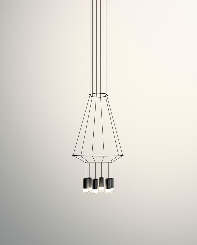 Wireflow Chandelier 6 Leds by Vibia