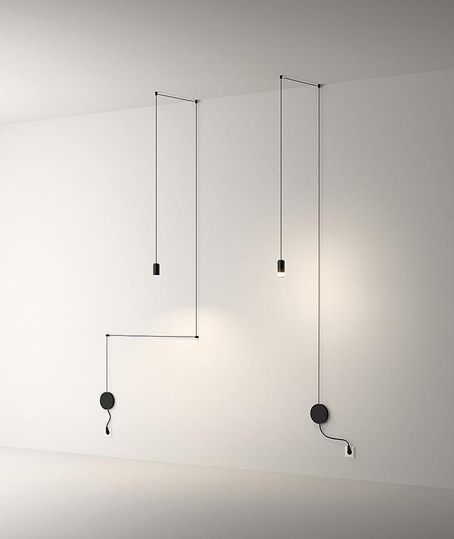 Wireflow Free Form Pendant Light - 1 LED by Vibia