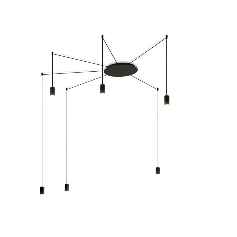 Wireflow Free Form Pendant Light - 6 LEDs by Vibia