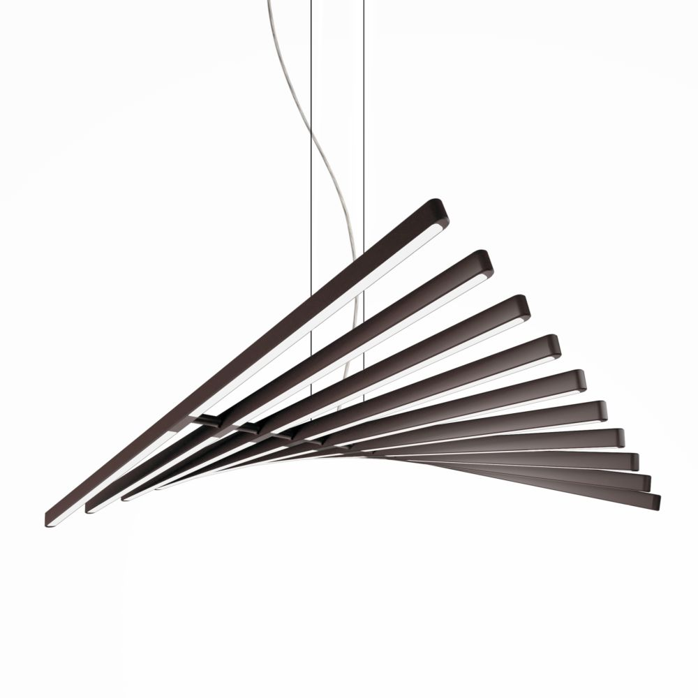 Rhythm Horizontal Pendant Light - 87 cm Height by Vibia