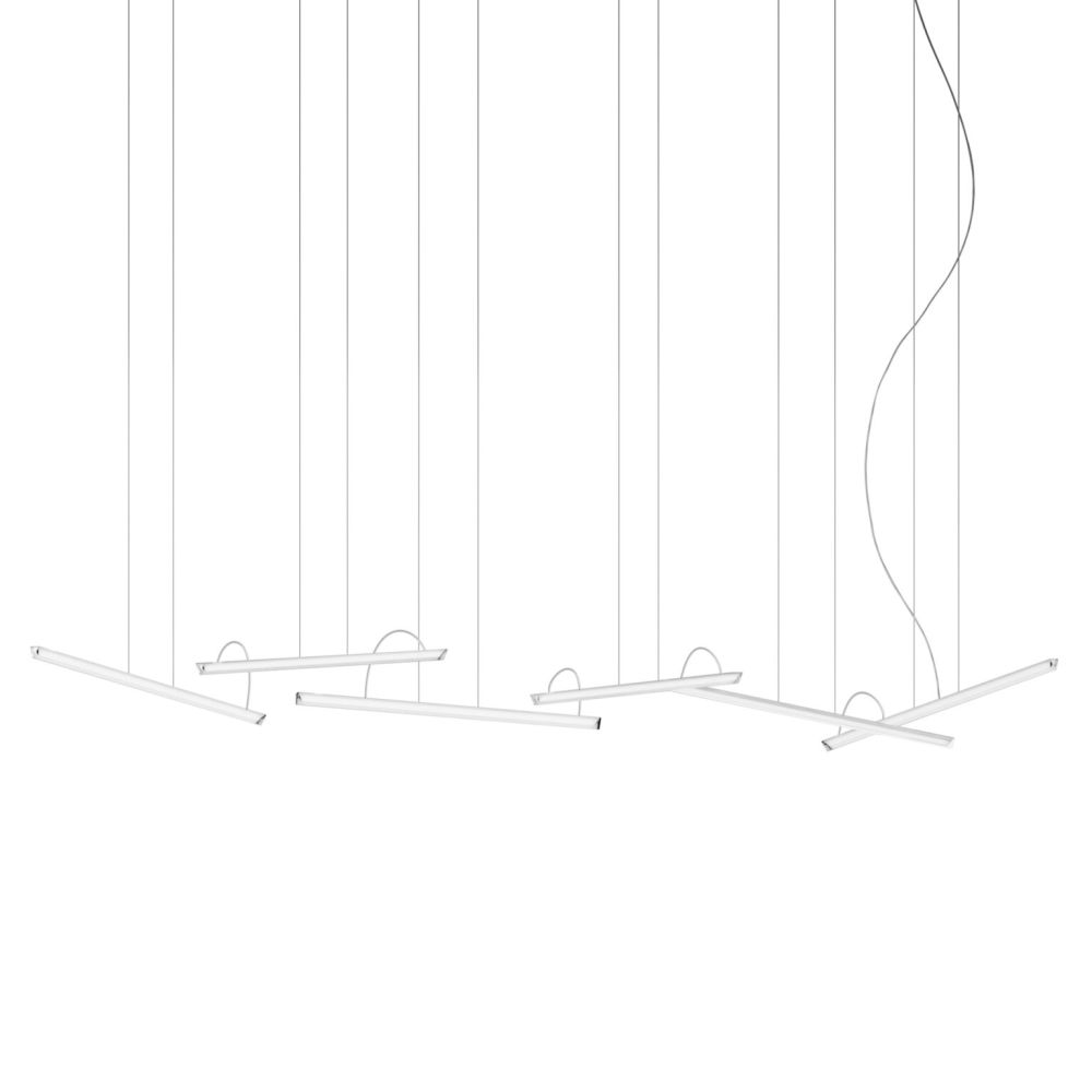 Halo Lineal Pendant Light by Vibia