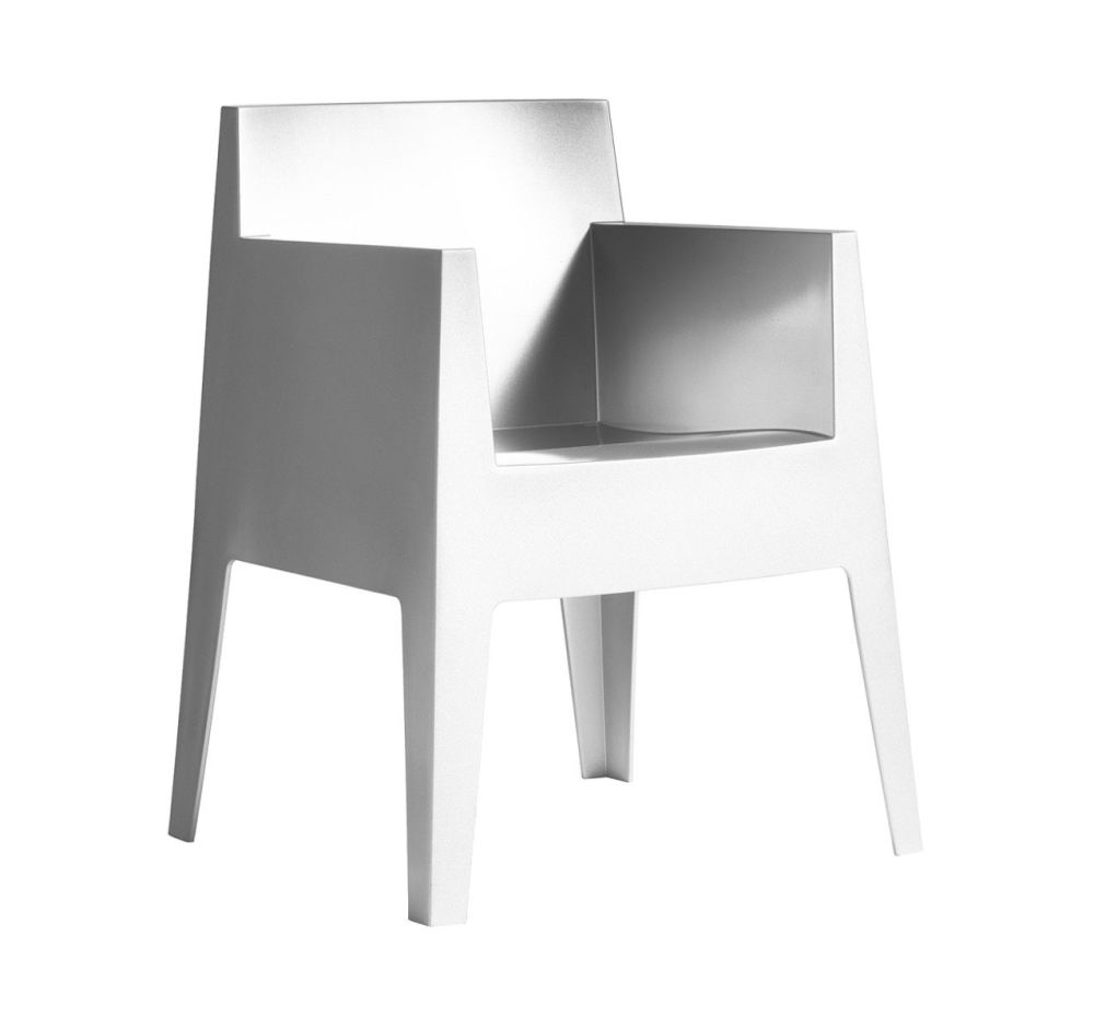 toy armchair set of 4 white by philippe starck for driade