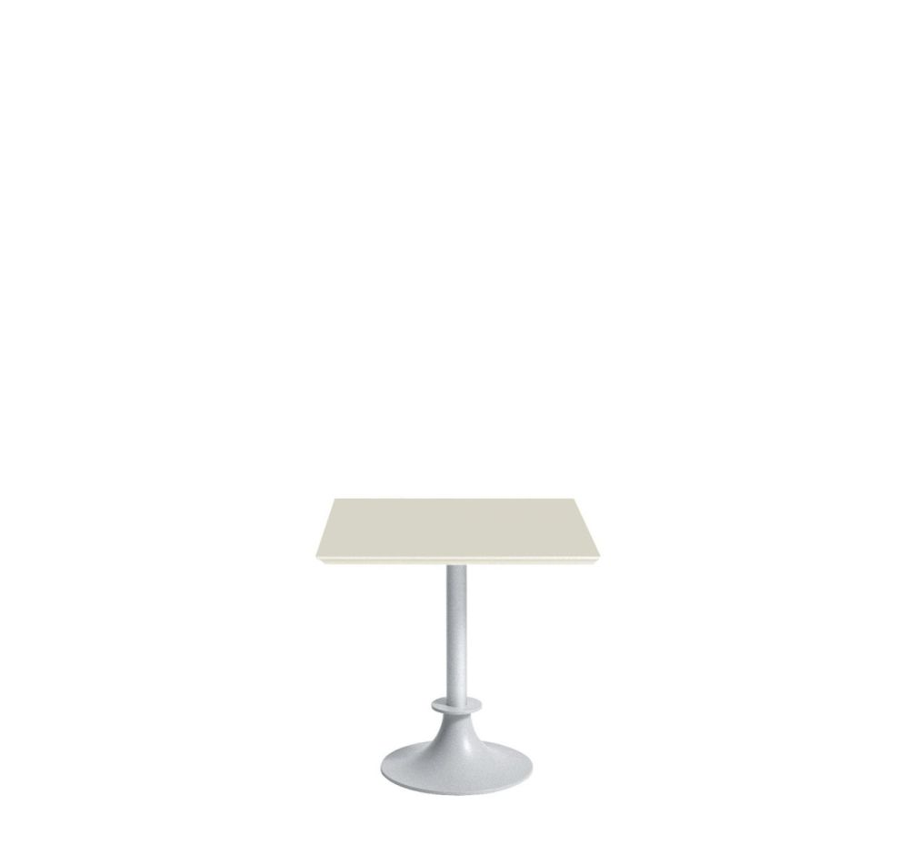 Lord Yi Square Table with Ivory San Top by Driade