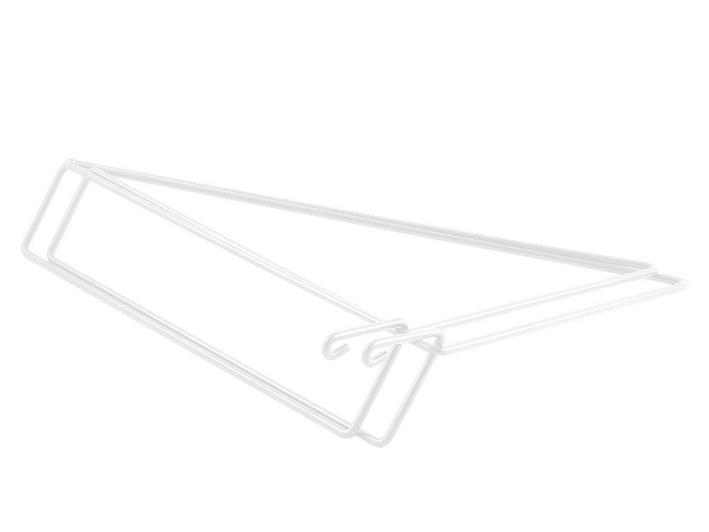 WHITE - set of 2 shelf brackets