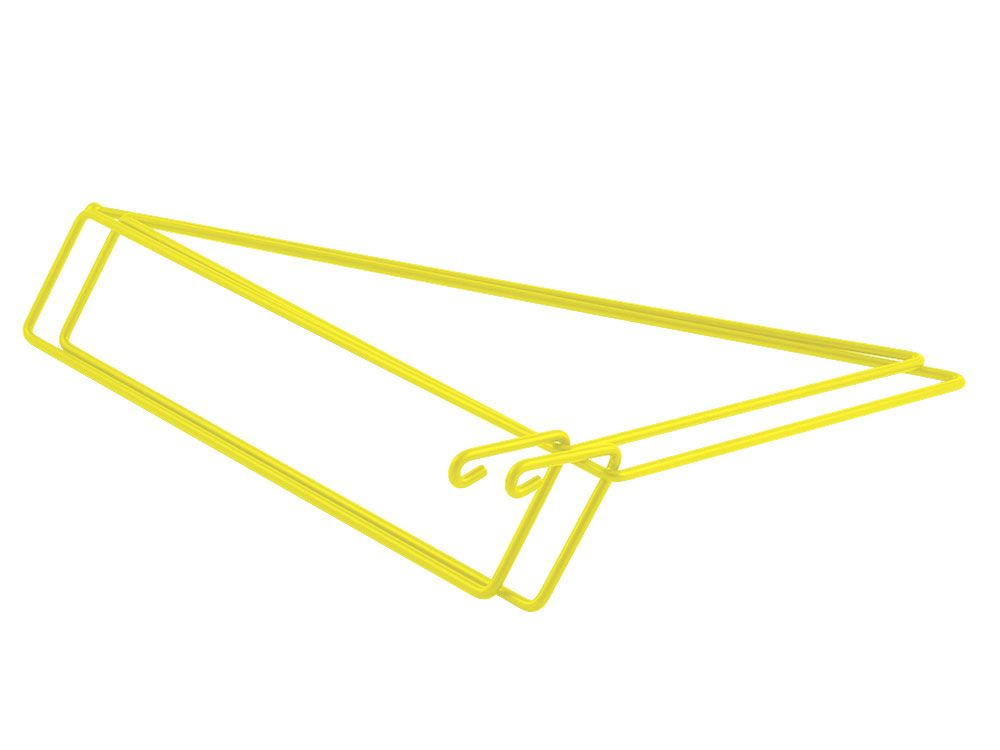 YELLOW - set of 2 shelf brackets