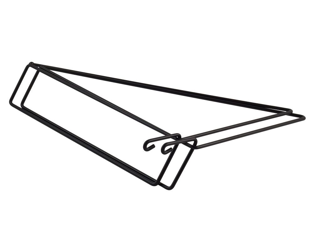 BLACK - set of 2 shelf brackets