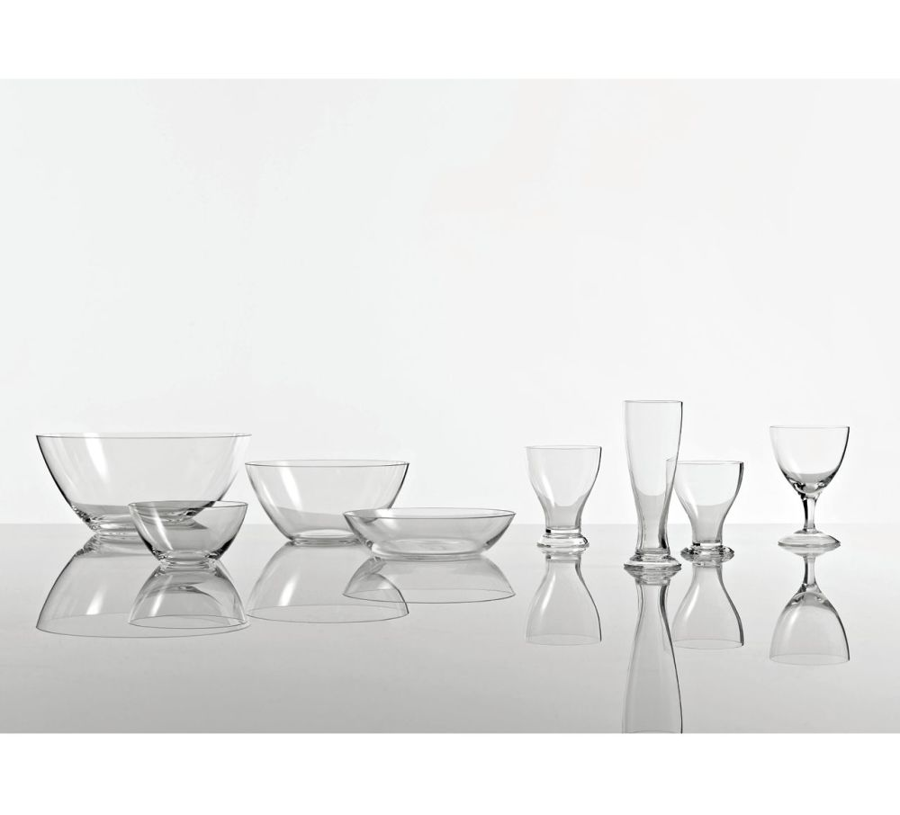 The White Snow Glass - Bowl Set of 6 by Driade