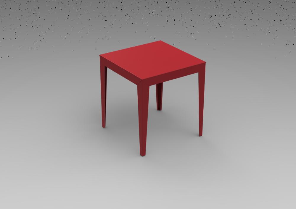 zef aluminium square table 70x70 by matière grise