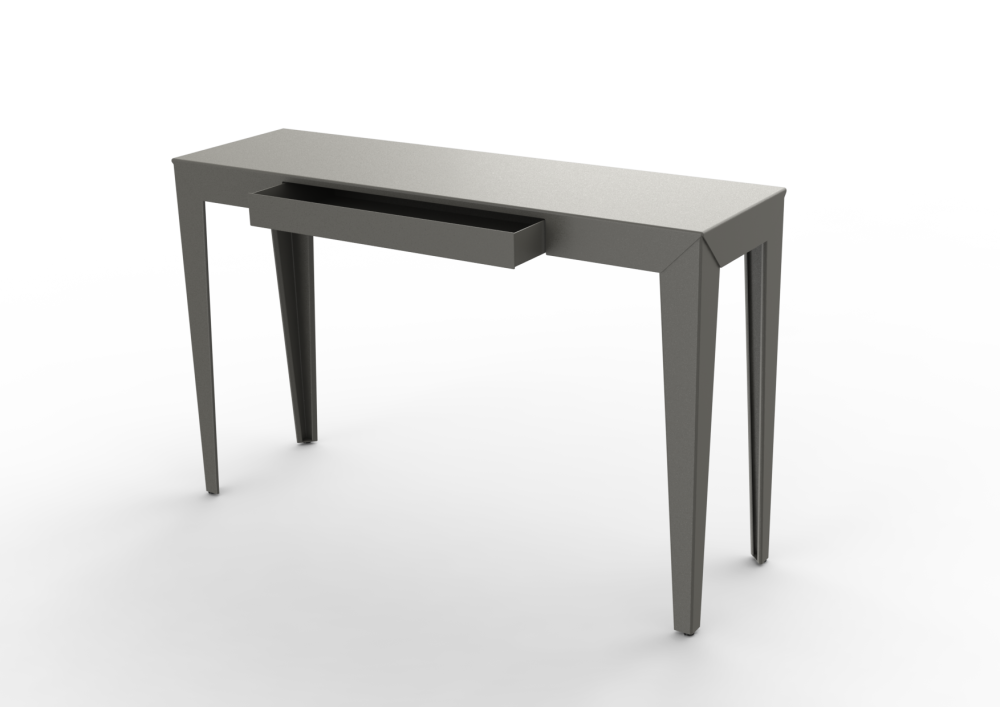 zef steel console table 103x35 by matière grise