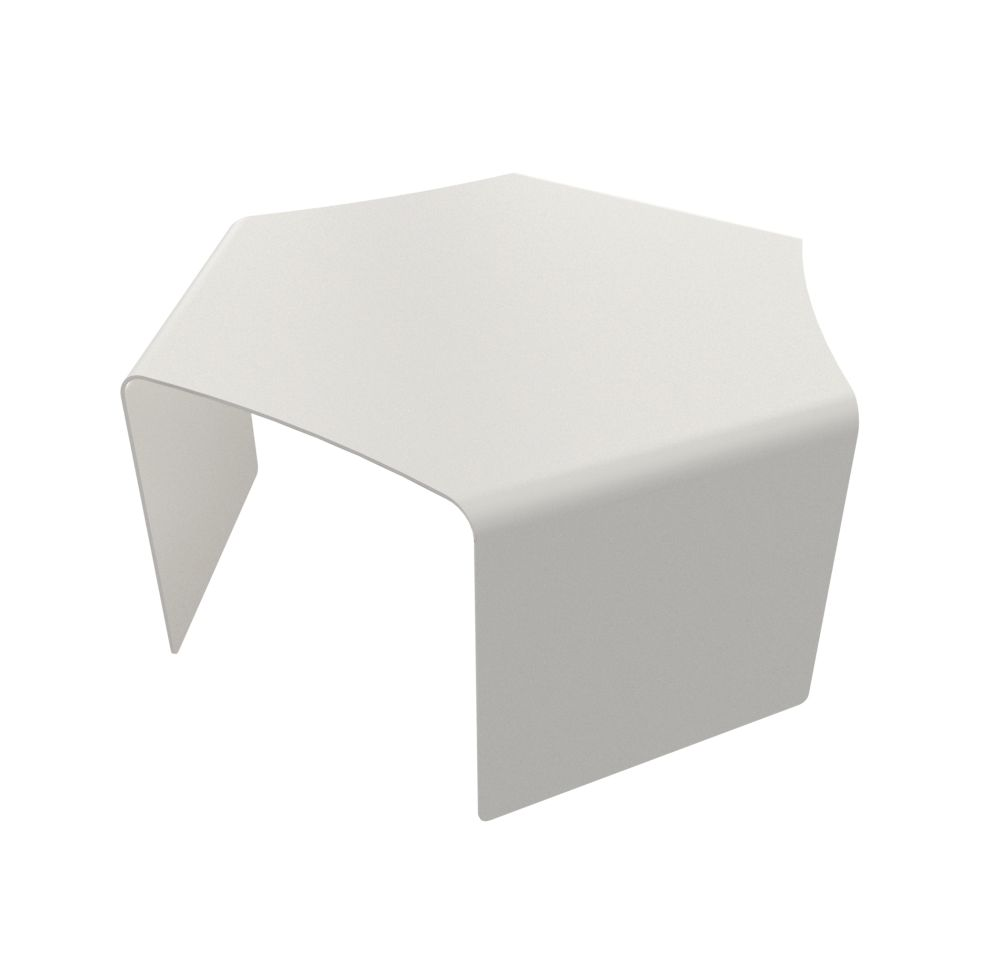 ponant upper solo low table white by matière grise