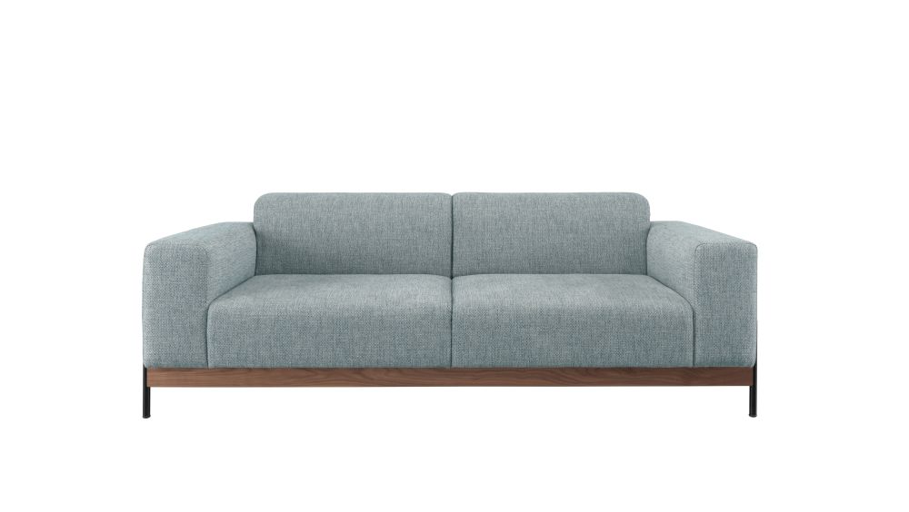 Bowie 2 Seats Sofa Oak Natural, Lana 007 Canary by Wewood