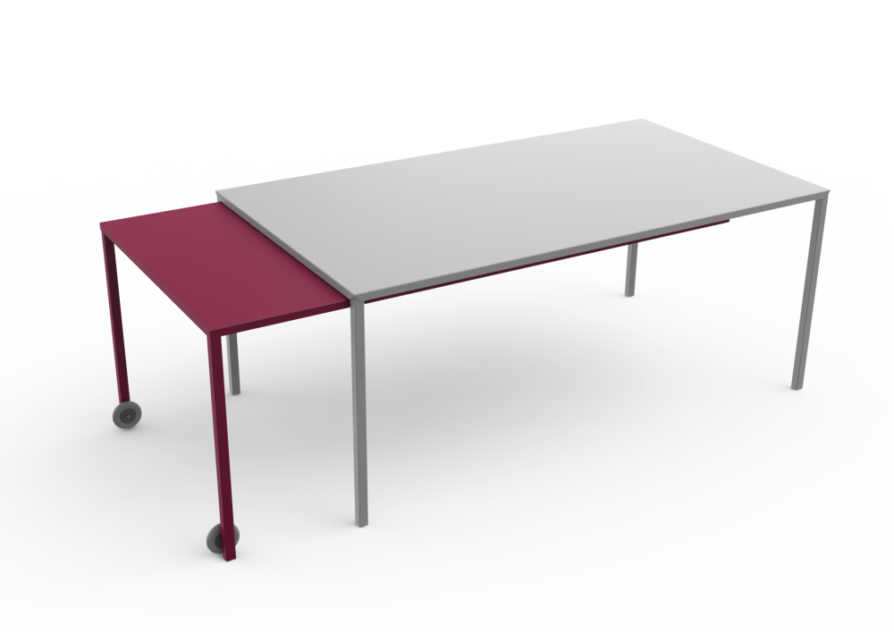 Rafale XL Rectangular Table by Matière Grise