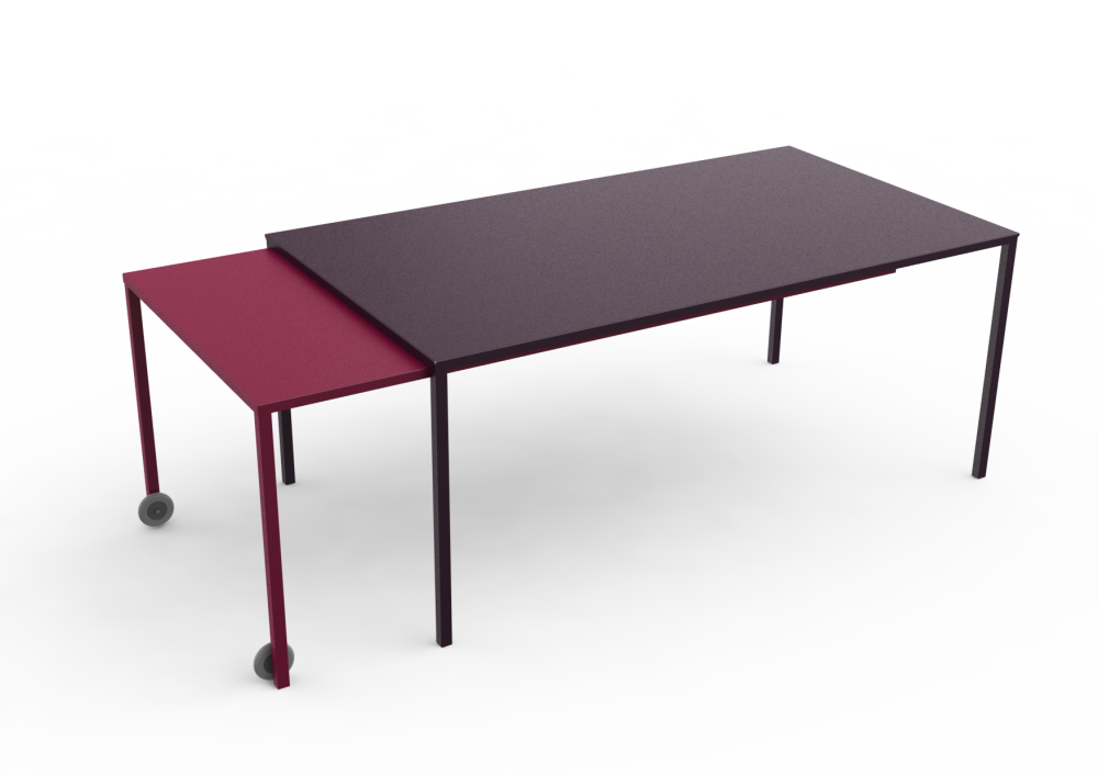 rafale xl rectangular table white, white by matière grise