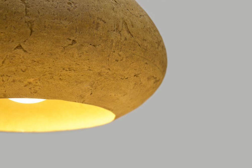 Morphe I paper mâché pendant lamp by Crea-Re Studio